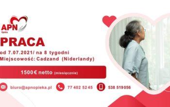 APN- Opieka nad Panią w Cadzand- 1500€